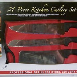 Chef Deluxe Miracle Edge 21 Piece Kitchen Cutlery Set