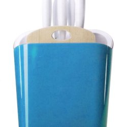 Omada 7-Piece Trendy Knife Block Set, Turquoise