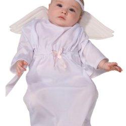 Rubie'S Costume Tyke Or Treat Baby Bunting Costume Angel, Angel, 0-9 Months