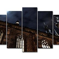 5 Piece Wall Art Painting Church Of Our Lady Before The Tyn In Prague Pictures Prints On Canvas City The Picture Decor Oil For Home Modern Decoration Print For Kids Room