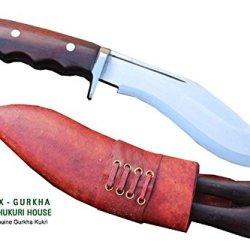 "Hand Forged Blade Zombie Apocalypse Chopper Khukri - 6"" Blade Gurkha Super Mini Afghan Issue Brown Sheath Gripper Blocker Handle Kukri Or Khukuris By Egkh In Nepal"
