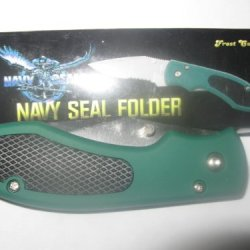 "Frost Cutlery # 15-242G Navy Seal 4-1/2 "" Closed Folding Knife New"