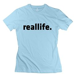 Reallife T-Shirt For Lady/Skyblue Tee Shirts