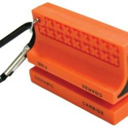 Ultimate Survival Technologies Saber Cut Ceramic Knife Sharpener, Orange