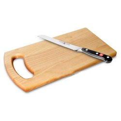 "Wusthof 1590 6"" Forged Classic Bread Knife With Bonus Birch Cutting Board"