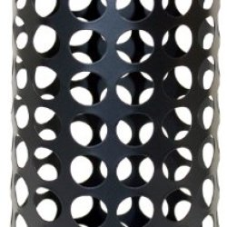 Jokari Wine Cork Vase/Pillar Candle Holder, 5 By 12-Inch, Matte Black