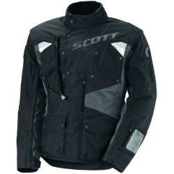 Scott Dual Raid Tp Men'S Textile Off-Road Motorcycle Jacket - Black/Grey / X-Large