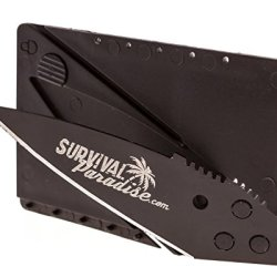 Iain Sinclair Cardsharp 2 Style Folding Credit Card Knife By Survival Paradise-Fast Free Shipping To Lower 48 States-Credit Card Knife 2-Black Blade-Surgical Stainless Steel-Survival Knife Fits In Wallet -Buy 6 Pay For 5 Sale (Select Quantity 6)