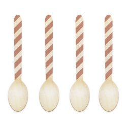 Dress My Cupcake 3.75-Inch Natural Wood Dessert Tablespoon, Tan Striped, Case Of 1000