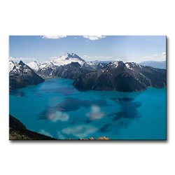 Blue Wall Art Painting Garibaldi Lake Canada Snow Mountain Pictures Prints On Canvas Landscape The Picture Decor Oil For Home Modern Decoration Print For Kitchen
