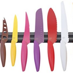 Gela Global 10-Piece Knife Set With Magnetic Bar