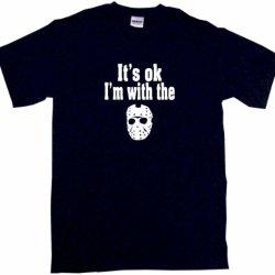 It'S Ok I'M With The Jason Mask Men'S Tee Shirt Xl-Black