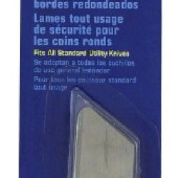 Sheffield Tools 12283 Round Corner Safety Utility Blades, 5 Pack
