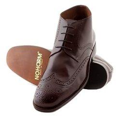 NOHARM Brown Brogue Vegan Boots NOHR1969