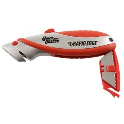 Rapid Tools Rt00008 Hd Quick-Change Knife With 3 Serrated Blades