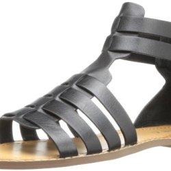 Kelsi Dagger Women'S Sarong Gladiator Sandal,Black,10 M Us