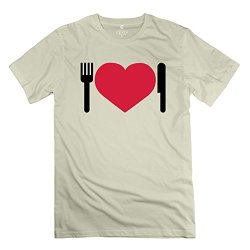 Natural Dinner Knife Fork 100% Cotton Tshirt For Teenagers
