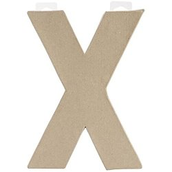 Darice Paper-Mache Letter, 8 By 5.5-Inch, Monogram X