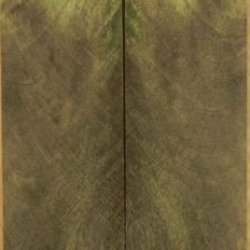 """Buckeye Burl Stabilized Green (2 Pc) Knife/Razor Scale 1/4""""X1 1/2""""X6"""" Re1"""