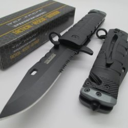 Tac-Force Assisted Opening Linerlock Belt Clip Tactical Black A/O Speed Rescue Glass Breaker Knife