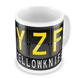 Coffee Mug Yzf Airport Code For Yellowknife - Neonblond