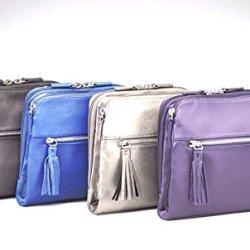 Cross-Body Organizer Concealed Carry Handbag / Purse By Gun Tote'N Mamas In Grey