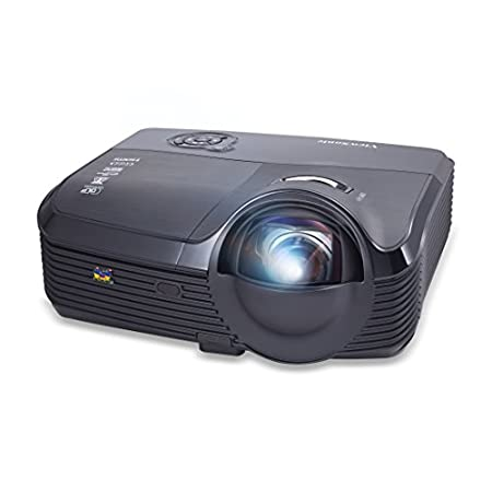 """The ViewSonic PJD8633ws is an advanced networkable WXGA DLP short throw projector that delivers bright, widescreen presentations from a short distance. With an ultra short throw lens, the PJD8633ws can project an 81"""" image from only 2.1 feet away. Bu..."""