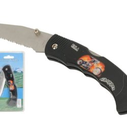 """Wild Animals Ramboo Hunting Knife Series - 3"""" Blade """"Usa Chopper Theme"""" Pocket Knife With Clip"""
