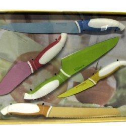 Brandini Italian Style 5 Piece Colorful Starter Knife Set