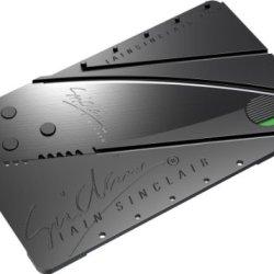 Iain Sinclair Cardsharp 2 Credit Card Sized Folding Knife Black Blade Lot Of 5