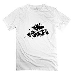 Mens Cd Art Music T Shirt - Retro Custom White T Shirt