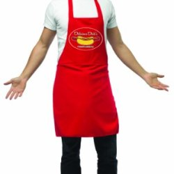 Rasta Imposta Apron Hot Dog Vendor, Red, Standard