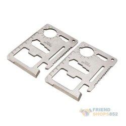 New 11 In 1 Multi Emergency Survival Pocket Knife Tool Credit Card Steel