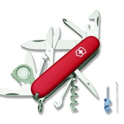 Victorinox Swiss Army Explorer Plus Pocket Knife (Red)