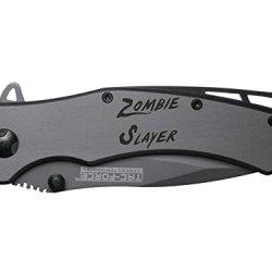 Zombie Slayer Txt Engraved Tac-Force Tf-820Gy Speedster Model Folding Pocket Knife By Ndz Performance