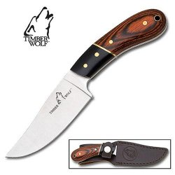 Timber Wolf Professional Skinner Knife W/ Leather Sheath