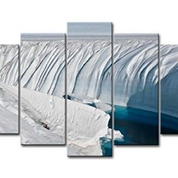 Black & White 5 Piece Wall Art Painting Ice Sheet Lake Blue Water Pictures Prints On Canvas Landscape The Picture Decor Oil For Home Modern Decoration Print For Bedroom
