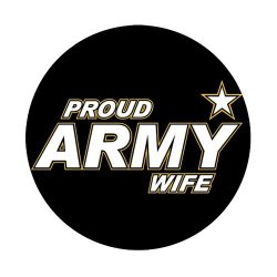 Jdsitem Simple Proud Army Wife Star Design Round Coaster Cup Pad
