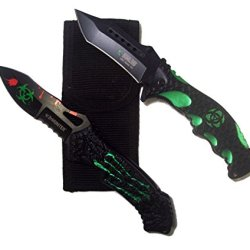 Zombie Hunter Biohazard Spring Assisted Opening Rescue Knife Gift Set
