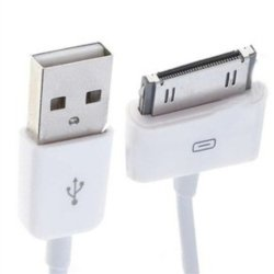 Deals And Bargains 30 Pin Lightning To Usb Data Sync Charging Cable For Iphone 4 4S And 3G For Ipad 1- White