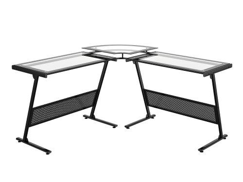 Picture of Comfortable Z-Line Delano L Computer Desk (B002I637RM) (Computer Desks)