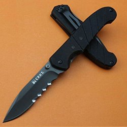 Lockback New Black Handle Pocket Knife Glby6855-7.48''