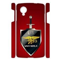 Jdsitem U.S. Navy Seals Simple Red Pattern Case Cover Sleeve Protector For Phone Google Nexus 5