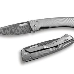 Lion Steel Tispine Folder With Fate Damascus And Titanium Handles