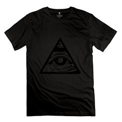 Tbtj-X Pyramid Eye Shirt For Men/Black T-Shirts