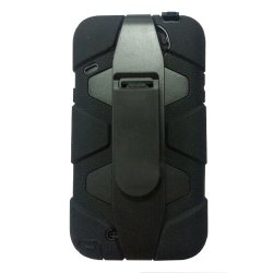 Meaci® Iphone 5C 3 In 1 Black Defender Body Armor With Tpu Clip Against Shocks Hard Case