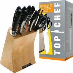 Top Chef Full Stainless Steel Knife Set - 9 Pieces 1 Ea