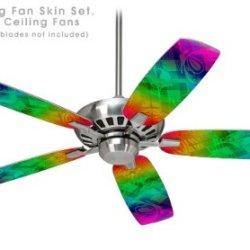 Rainbow Butterflies - Ceiling Fan Skin Kit Fits Most 42 Inch Fans (Fan And Blades Sold Separately)