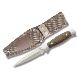 Rough Rider Amigo Boot Fixed Blade Knife,3.625In,Stainless Double Edge Dagger Ke18 #14 Pakkawood