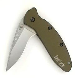 Kershaw 1620Ol Scallion Folding Knife (Olive Drab) With Speedsafe